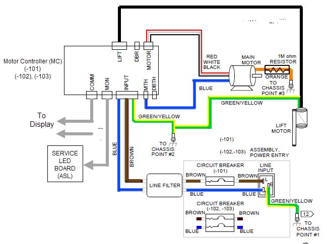 [DIAGRAM_3US]  Console Power Troubleshooting | Treadmill Wiring Diagram |  | precor.mcoutput.com